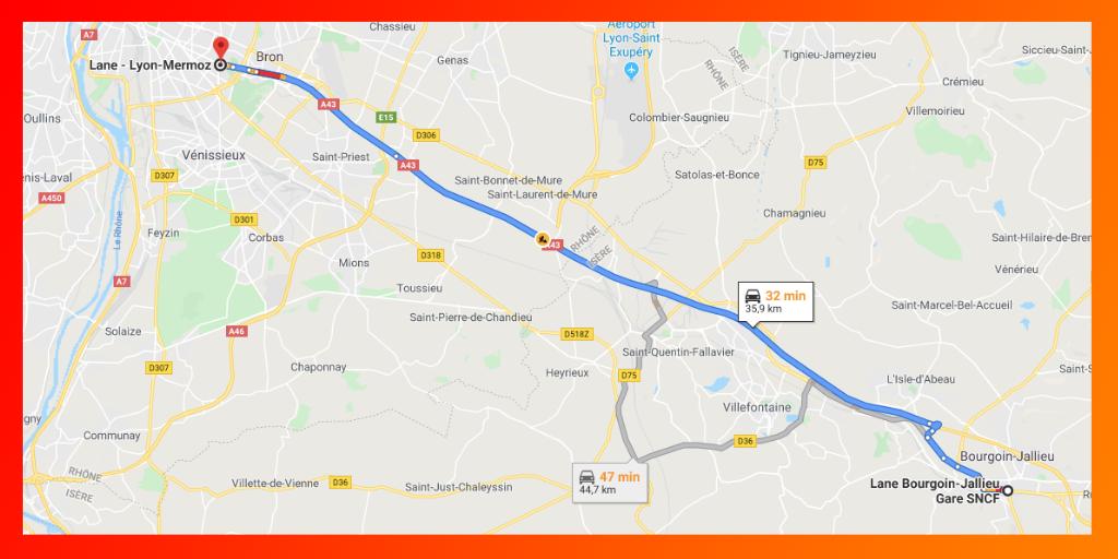 Lane permet de rejoindre grauitement Lyon depuis Bourgoin Jallieu en covoiturage