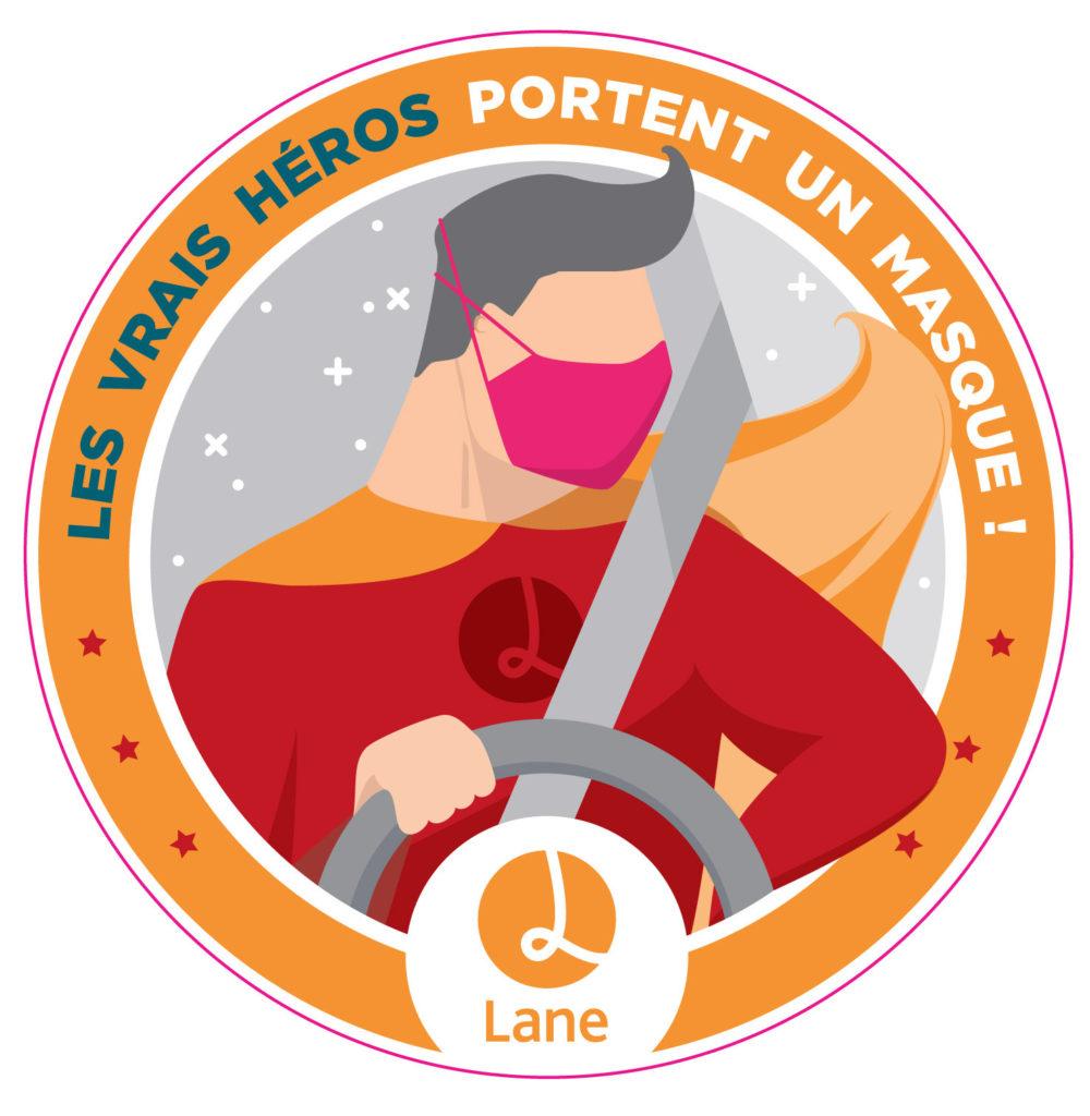 Macaron les vrais héros portent un masque Lane